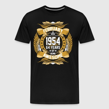 Feb 1954 64 Years Awesome - Men's Premium T-Shirt