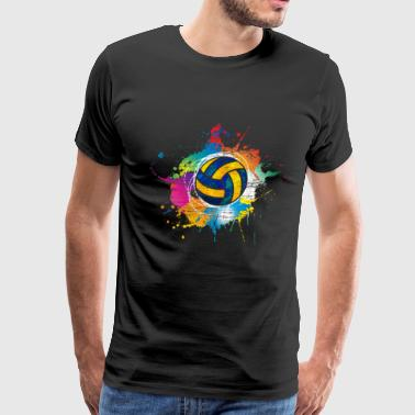 Volleyball color explosion - Men's Premium T-Shirt