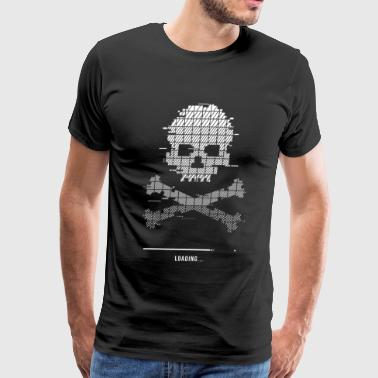 Game over Loading Glitch 8bit - Men's Premium T-Shirt