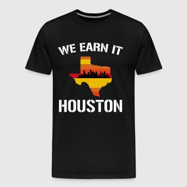 Houston Baseball Throwback Retro Astro Stripe Shir - Men's Premium T-Shirt