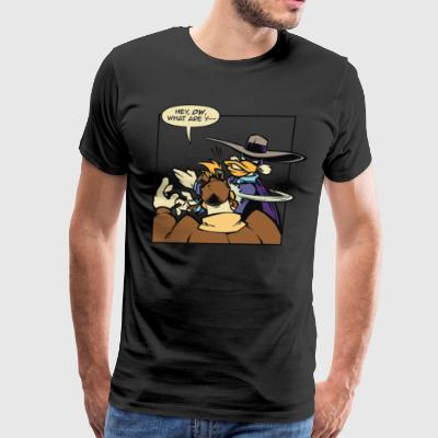 Angry Duck Chicken Cyber System - Men's Premium T-Shirt