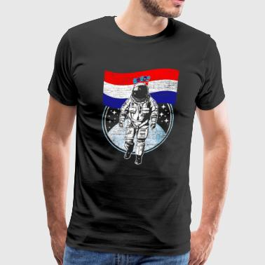 Astronaut moon Croatia - Men's Premium T-Shirt