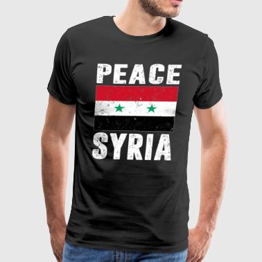 Peace Syria Flag Support Syrian People T Shirt - Men's Premium T-Shirt