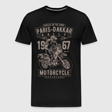 Paris Dakkar Rally Motorcycle - Men's Premium T-Shirt