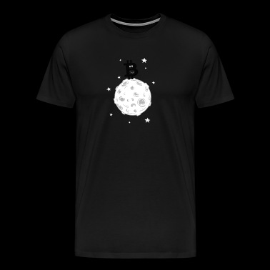 Bitcoin to the moon! Black version. - Men's Premium T-Shirt