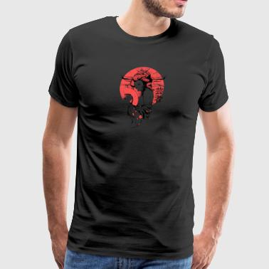 red nude japanese geisha - Men's Premium T-Shirt