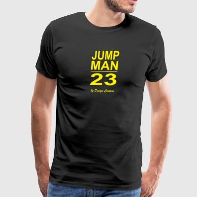 JUMP MAN 23 YELLOW - Men's Premium T-Shirt