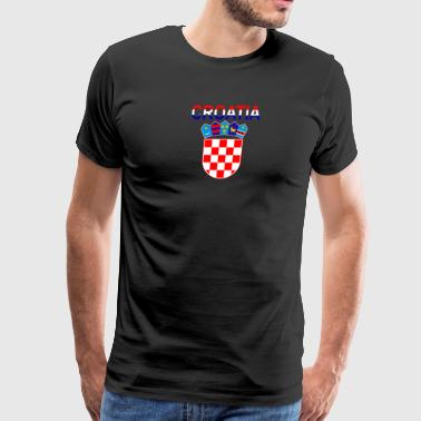 Croatia Coat Of Arms - Men's Premium T-Shirt