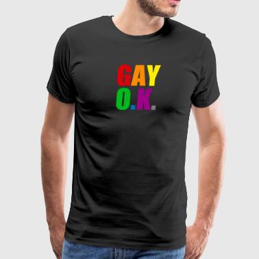 Baseball Gay Ok Design - Men's Premium T-Shirt