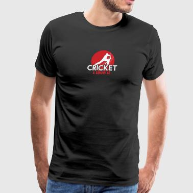 Cricket I love it - Men's Premium T-Shirt