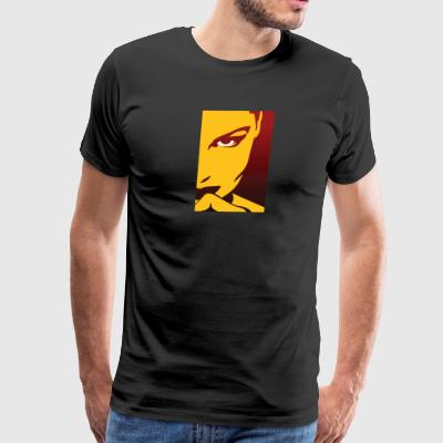 Face Of An Attractive And Mysterious Woman - Men's Premium T-Shirt