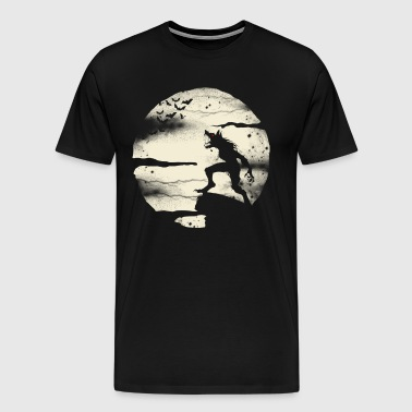 Werewolf With The Full Moon  - Men's Premium T-Shirt