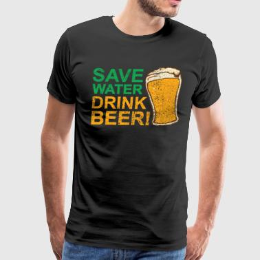IRISH SAVE WATER DRINK BEER - Men's Premium T-Shirt