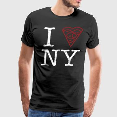 New York Pizza Shirt Pizza Lover Shirt Slice Heart - Men's Premium T-Shirt
