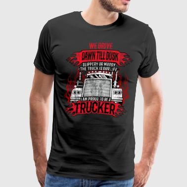 trucker truck lorry quote gift idea road driver - Men's Premium T-Shirt