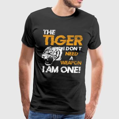 Tiger Cat Gift Idea Animal Rights Claw Weapon - Men's Premium T-Shirt