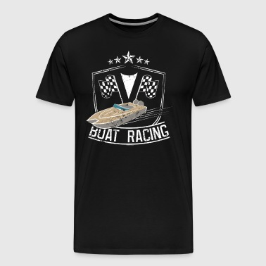 Boat Racing Shirt Love Speed Boat Racing Gift Flags Motorboat Stars - Men's Premium T-Shirt