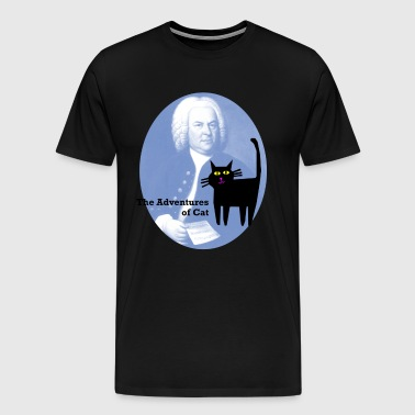 Cat Meets Bach - Men's Premium T-Shirt