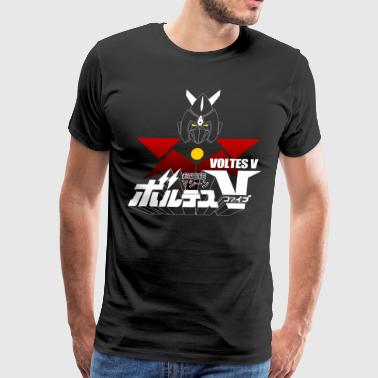 JAPAN CLASSIC RETRO ANIME ROBOT VOLTES V FIVE - Men's Premium T-Shirt