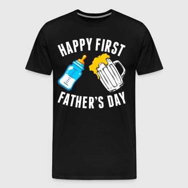 Happy First Fathers Day Tshirt - Men's Premium T-Shirt