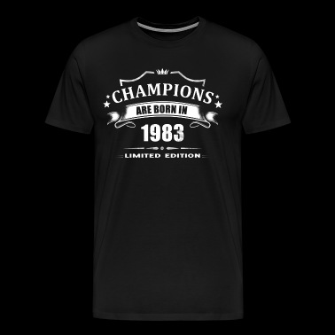 Champions Are Born In 1983 - White - Men's Premium T-Shirt