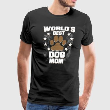 World's Best Dog Mom - Men's Premium T-Shirt