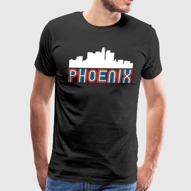 Red White Blue Phoenix Arizona Skyline - Men's Premium T-Shirt