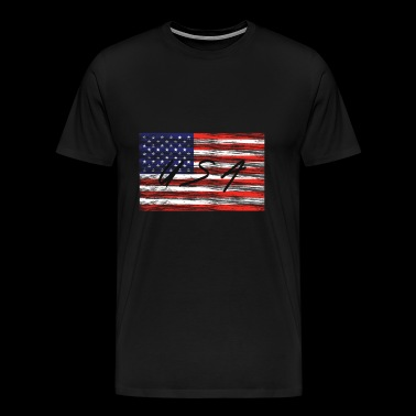 United States of America Flag USA Patriot Gift - Men's Premium T-Shirt