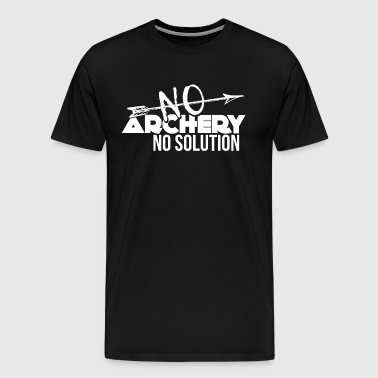 Archer - Archery - Archery Shirt - Arrow and Bow - Men's Premium T-Shirt