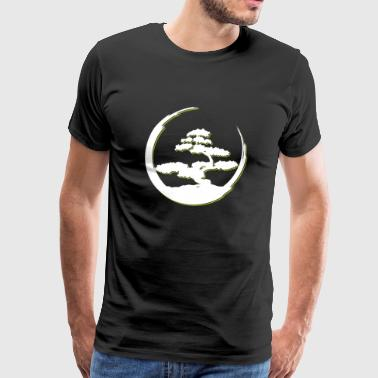 Bonsai Tree in Enso Circle Buddhist Zen - Men's Premium T-Shirt