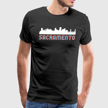 Red White Blue Sacramento California Skyline - Men's Premium T-Shirt