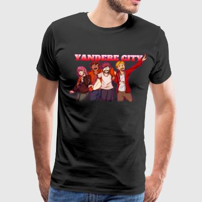 Yandere City Squad Red! - Men's Premium T-Shirt