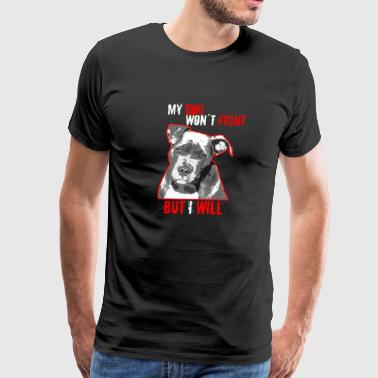 Pitbull dog present - Men's Premium T-Shirt