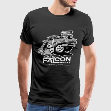 Ford XE Falcon Monochrome T Shirt - Men's Premium T-Shirt