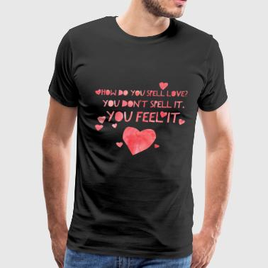 Cute and Cool Love Clothing - Spell Love - Men's Premium T-Shirt