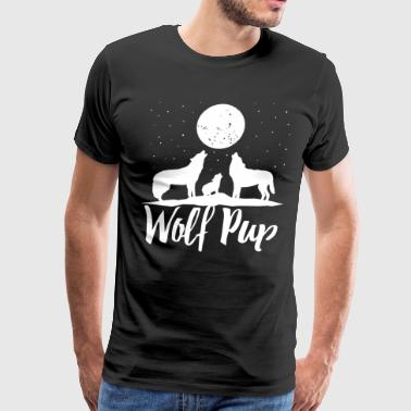Wolf Pup Shirt Mama Papa Forest Wolf Pack Family o - Men's Premium T-Shirt