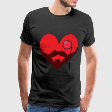 Bearded Heart - Men's Premium T-Shirt