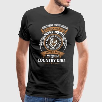 I never said I was perfect I am country-girl - Men's Premium T-Shirt