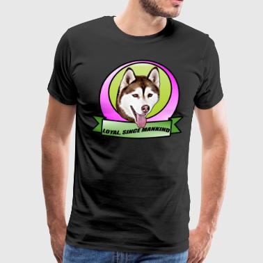Cute Siberian husky dog - Men's Premium T-Shirt