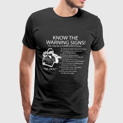 WARNING SIGNS - I'M OKAY - Men's Premium T-Shirt