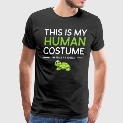 This Is My Human Costume I'm Really a Turtle Shirt - Men's Premium T-Shirt