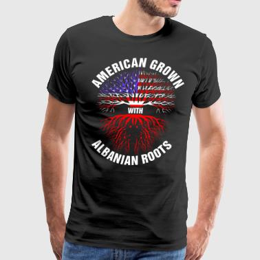 American Grown Albanian Roots - Men's Premium T-Shirt