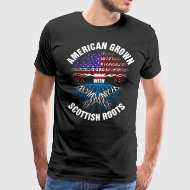 American Grown Scottish Roots - Men's Premium T-Shirt