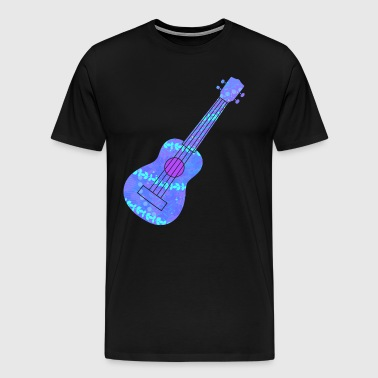 Ukulele Blue Hawaii Luau - Men's Premium T-Shirt
