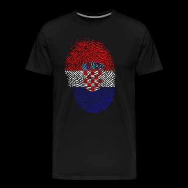 Croatia flag - Men's Premium T-Shirt