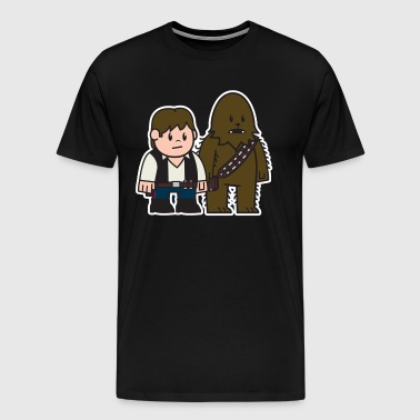 Mitesized Han Chewie - Men's Premium T-Shirt