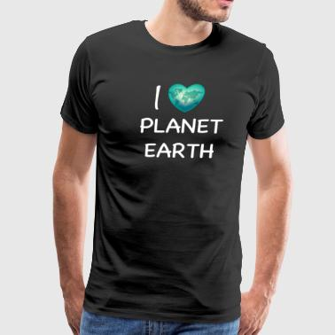 I Love Planet Earth - Men's Premium T-Shirt