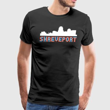 Red White Blue Shreveport Louisiana Skyline - Men's Premium T-Shirt