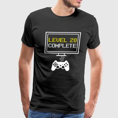 LEVEL 20 COMPLETE - funny 20th Bithday Gaming Gift - Men's Premium T-Shirt