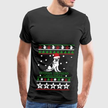 German Shepherd Christmas Sweatshirt - Men's Premium T-Shirt